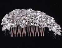 Wholesale Rhinestone Crown Hairband Vintage Crystal Bridal Tiara Wedding Accessory Women Party Pageant Flower Jewelry Silver Plated