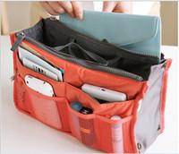 Wholesale Hot Selling Make up organizer bag Women Men Casual travel bag multi functional Cosmetic Bags storage bag in bag Makeup Handbag