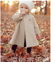 autumn winter trench - Retail Girls Outerwear Coats Children Fashion double breasted Woolen Trench Kids Winter O Neck Jacket Warm Cotton Clothes