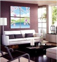 Cheap Wholesale - 4Panels Romantic Adorable Combination Modern Huge Art Painting Beautiful Decorat0ive Picture Canvas Print pt307