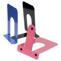 Wholesale High quality Blue Red Black Heavy Duty Metal Bookends Book Ends Home Office Supplies Stationery mm