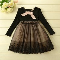TuTu girls party dresses - New Arrival Girls Dresses Baby Long sleeves Lace Dress Kids Cute Lace Dresses Children s Tutu Dress Girl Party Dress kids fashion dress