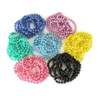 Wholesale 1 mm inches Connectors Included Ball Chains Necklaces For Locket Crafting Jewelry Colored choose