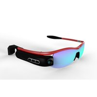Wholesale Smart Outdoor sports sunglasses Cycling glasses glasses wireless video camera million pixels pixels HD720 s iOS and Android wearable cam