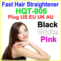 Cheap 2016 HOT Fast Hair Straightener comb Hair Styling Tool Flat Iron Straightening Brush With LCD Temperature Control US EU AU UK Plug HQT-906