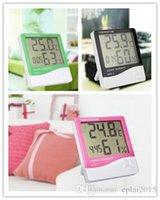 Wholesale Digital LCD Humidity Meter Clock Thermometer Hygrometer Temperature Calendar