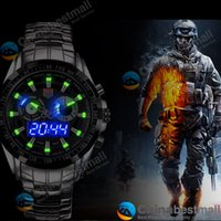 auto city - TVG Sports City Hunter Led Pointer Quartz Wristwatch Men Fashion Waterproof Dual Time man Military Watches with Luminous