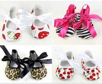 Wholesale SALE NEWBORN Cotton Baby shoes Girls Shoes First Walkers Shoes Toddler Shoes DROP SHIPPING PAIRS PIECES HOT ZB
