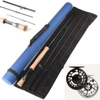 fly reel and rod - DHL Best large arbor cnc reel and IM12 carbon fly rod fly fishing line fly fishing combo