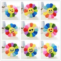 Wholesale Diameter cm Styles Cushion Cute Lovely Emoji Smiley Pillows Cartoon Cushion Pillows Yellow Round Pillow Stuffed Plush Toy LA202