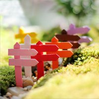 Wholesale DIY microlandschaft Succulent plants Road LED wood fence flowerpot decorative DIY cactus bonsai bent optionally