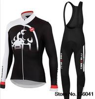 al por mayor ropa de lana polar-Ropa ciclismo de Invierno 2015 de polar ciclismo (BIB) Kits de estilo largo de un ciclo Jersey + (BIB) Pantalones Ropa de ciclo de la bici