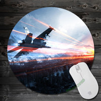 battlefield pc games - Cool Anti Slip Battlefield aircraft army caspian border Mouse Pad New Round Shape Game pc Mousepad Mouse Mat Pad for Optical