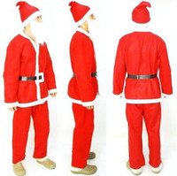 Wholesale 100SET LJJH877 adult Christmas clothing Christmas Santa Claus Suit Cosplay dress clothes Christmas clothing SET