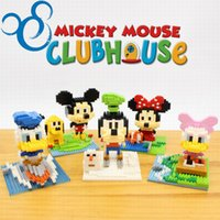 Plastics Self-Locking Bricks ABS Mickey Mouse Diamond Building Blocks Present Gift Minnie Donald Duck Daisy Goofy Bricks Action Figures Wise Hank Toy