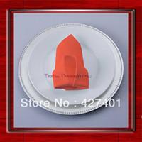 Wholesale High Quality x45cm Neon Orange Polyester Plain Napkin Table Napkin Hotel Napkin Dinner Napkin Factory Direct Sale
