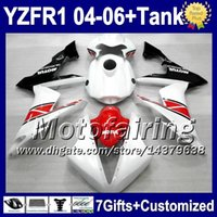 aprilia race fairings - Race red white gifts Tank For YAMAHA YZFR1 YZF F10161 Red black YZF R1 YZF R YZF R1 YZF1000 Fairings