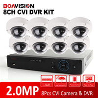 Kit caméra cctv dvr Prix-Analog High Definition Dahua Solution HD CVI System 8CH 1080P Support 2.0MP 8Pcs Outdoor Dome CVI Camera IR 10m CCTV HDCVI DVR Kit