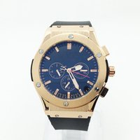 mens gold watches - Luxury Mechanical Mens Watch HB Big Bang Rubber Band Gold Waterproof Watch for Men