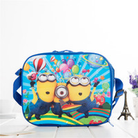animal water bottle - Despicable Me Minions Lunch Bag Spider man Robot Avengers Handbag Lunch Case Water Bottle Holder Girls Boys Kids Children Shoulder Bags