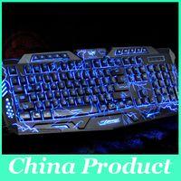 Wholesale Teethteats african lion dsmv gaming keyboard wired miss white shark cf luminous jianp Keyboard Mouse Combos
