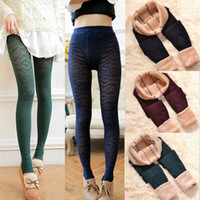 Wholesale Women Ladies Winter Warm Lace Slim Pants Stretch Thick Fleece Thermal Leggings Trousers