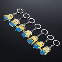 Wholesale Despicable Me Keychains Cartoon Key Chain Despicable Me D Eye Small Minions Figures Kids toy Keychain Hotsale