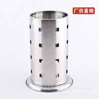 Wholesale Factory outlet stainless steel chopsticks tube tableware tube large bottom round stainless steel chopsticks tube kitchen supplies