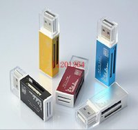 Wholesale All in one card reader Multi in card reader For SD SDHC MMC RS MMC TF MicroSD MS MS PRO MS DUO M2