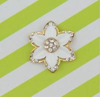 Wholesale x20mm Rhinestone Flatback Button For Hair Flower Wedding Invitation WY015