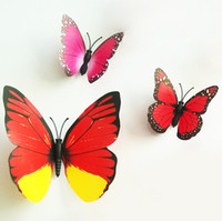 Wholesale Room Butterfly Decoration colorful Living room bedroom D Butterfly Wall sticker PVC Wall paster stickers set factory price on sale