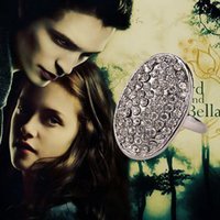 band twilight - Min order is mix order Twilight Bella Crystal Engagement Rings Alloy Oval Rings For Women