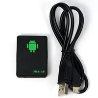 Wholesale Mini Global Real Time GPS Tracker A8 Gsm mhz GPRS GPS Tracking Device with SOS Button DHL