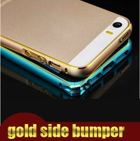 Wholesale Luxury Gold Side Arc Metal Aluminum Alloy Protective Bumper Case Cover For iphone s for iphone plus