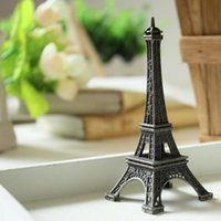 Wholesale 1 cm Retro Bronze Paris Eiffel Tower Figurine Statue Vintage Model Decor Alloy