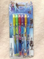 Wholesale set Princess Anna Elsa Children pens Stationery colors Bead light pen