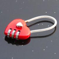 Wholesale Feng Haiyan booming outdoor love peach mini travel backpack lock luggage lock anti theft lock wire lock