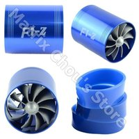 Wholesale GPS F1 Z Supercharger Turbo Air Intake Fuel Saver Double Fan Propeller Super Charge Turbo Charge