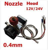 Cheap 12V 0.4mm Nozzle Thermocouple Single Nozzle 3D Printer Print Head   Extruder 2015 new top sale Free Shipping