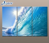 artwork stores - Rising Wave Waterproof Modern Wall Canvas Prints Artwork Picture Canvas printing Painting Living Room Store Decoration Panels