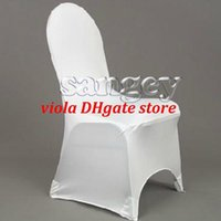 Polyester / Cotton Yes Modern 150 PCS White Spandex Wedding Chair Covers
