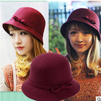 Wholesale New spring and Winter Elegant Women s Fashion Cap Ladies Flower Rose Bucket Hat Women Small Fedoras Hat Cloche Headwear