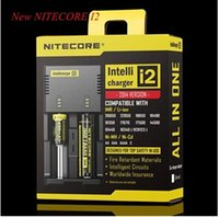 Wholesale Authentic Nitecore I2 Universal Charger for Battery US EU AU UK Plug in Intellicharger Battery Charger DHL free