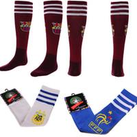golf towel - Season Football socks soccer sock long cylinder thick towel bottom player male sweat motion sports socks Cotton socks color