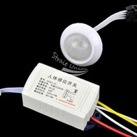 Wholesale New IR Infrared Module Body Sensor Intelligent Light Lamps Motion Sensing Switch White