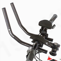 aero grips - Road Mountain Bike Race MTB Aluminum Alloy Aero Bicycle Handlebar Cycling Suspension Rest Handle Bar Separated Rest Bar