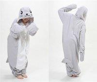 Cheap Fashion Newest Kawaii Unisex Adult Novelty Sea lions flannel Pajamas cartoon Onesie jumpsuit Pyjamas Cosplay Costume Sleepsuit