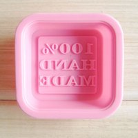 Wholesale 1 Beautiful DIY Hand Made Silicone Soap Molds Making Model Rectangle Frame