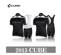 Wholesale New Styles team cube Cycling Jerseys Bike Jersey bib cycling Shorts cube Men s sports riding bicycle clothes