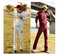 Wholesale Men s Spring Cool Sport Wear Sport Suit training suit with hoodie